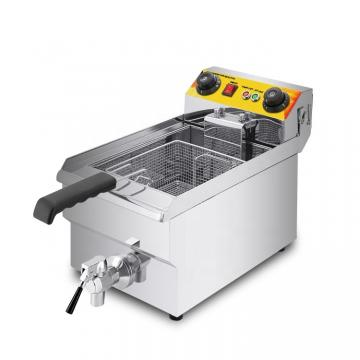 Commercial Kitchen 1 Tanks Stainless Steel Gas Deep Fryer (HGF-776)